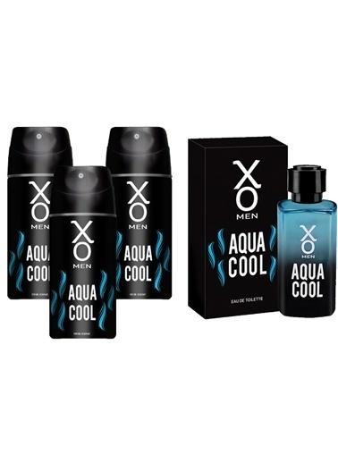 Xo Xo Aqua Cool Men Edt Parfüm 100 Ml + 3 Lü Deodorant 150 Ml Renksiz